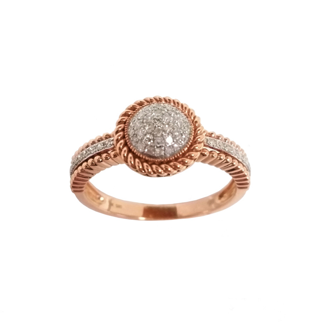 k ring rose rings cttw gold bubble signature diamond cable engagement anora jp in