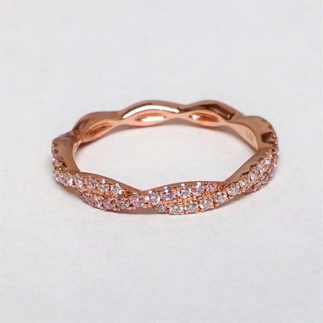 roman jules pink and white diamond twisted rose gold