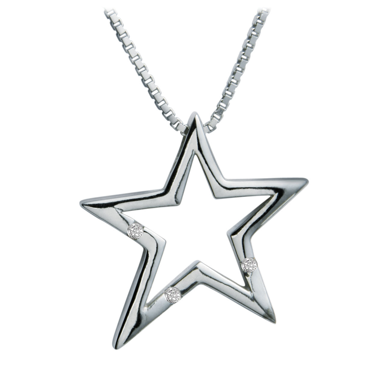 Sterling silver star pendant necklace marquis jewelers newton ma mozeypictures Image collections