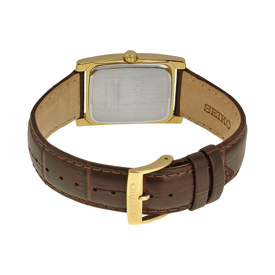 Lowest Price Seiko Core Rectangle Brown Leather Sup896